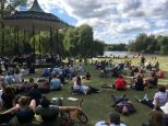 Regent's Park Bandstand on a perfect day