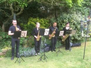 Saxophone Ensemble at FiSH's Open Gardens Day