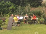 Sax group at St Michael's summer party