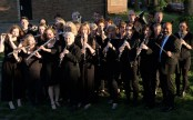 Band posing on a lovely evening .....