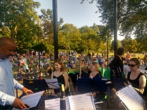 Appreciative audience at Regent's Park 2019